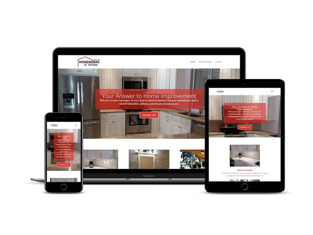 Holiday FL contractor service web design
