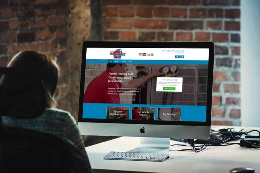 HVAC web design - website design