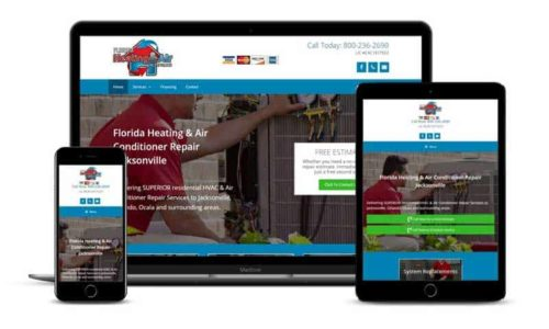 HVAC web design - website design